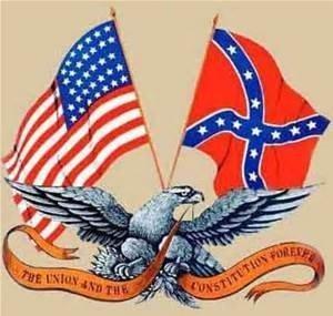 ConfederateAndAmericanFlag